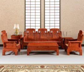 东阳红木家具厂家非洲花梨木缅甸花梨木象头沙发