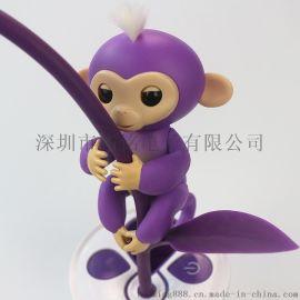 指尖猴崽电子宠物,创意儿童玩具手指猴 触摸感应指尖玩具 多彩手指猴