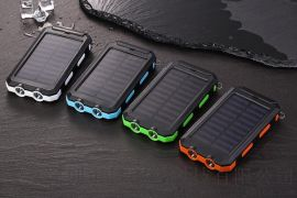 新款20000毫安太阳能移动电源 户外指南针手机充电宝