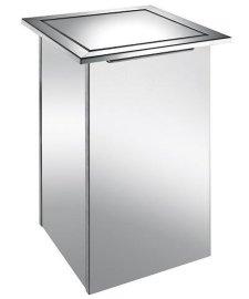 方形 304不锈钢 台面嵌入式 垃圾桶