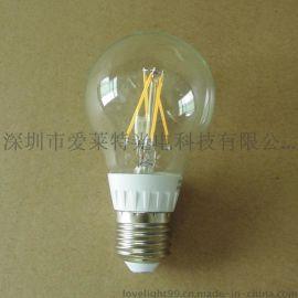 LED灯丝球泡 4W 100V-240V 80显指 LED球泡灯生产厂家