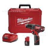 米沃奇Milwaukee M12BDD-202C 锂电池充电式冲击钻/电钻/起子机