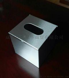304不锈钢面巾纸盒,手抽取餐巾纸箱批发