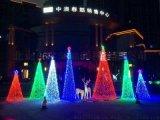 北京圣诞树工厂直销承接:户外楼体亮化 真树缠灯