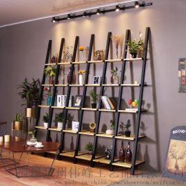 簡約現代擱板置物架客廳儲物收納層架落地牆壁架簡易鐵木創意書架