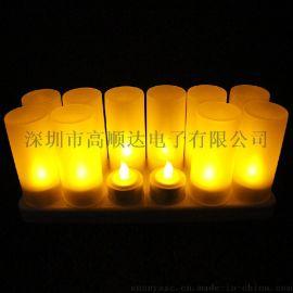 工厂私模可充电蜡烛灯CL213812Y套装