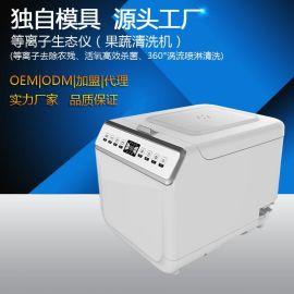 厂家批发等离子生态仪果蔬清洗机家用果蔬解毒机OEM/ODM