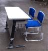 条形培训桌,广东鸿美佳厂家提供折叠条形培训桌