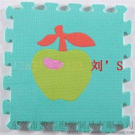 制造廠家直銷高品質環保EVA水果摳圖地墊 組合套裝10片