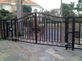 安装维修铁艺大门平移门,庭院门平开门防锈