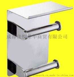 304不鏽鋼上下雙卷紙巾架廠家直銷包郵