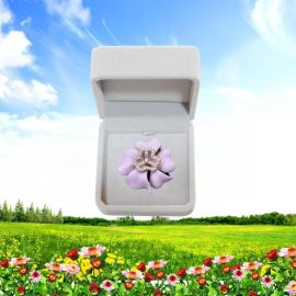 巾帼妇联代表镶钻徽章工艺礼品、