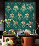 宝路通刺绣无缝墙布,欧式美式风格,高密织苏绣