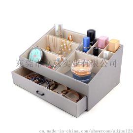 东莞化妆品皮盒收纳盒化妆瓶皮盒展示盒定制厂家