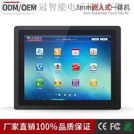 12寸工業超薄IP65防水防塵電容觸摸設備 安卓平板電腦平面觸摸一體機