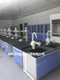 成都鋼木操作臺廠家 化驗室鋼木工作臺 實驗室轉角櫃
