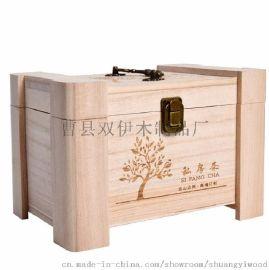 厂家定做木制茶叶盒茶叶木盒桐木茶叶包装盒通用私房茶礼盒 茶叶盒