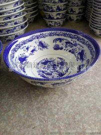 景德镇陶瓷大碗价格 青花瓷口径30cm大碗 酒店拉面馆专用