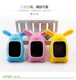 天才兒童電話手表硅膠吊墜定位電話手表保護套卡通兔子小熊表套