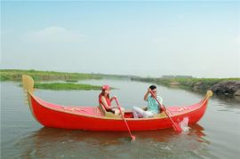 楚风木船出售湖北武汉婚纱店摄影道具船贡多拉船木质装饰船