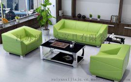 办公室简约真皮沙发组合 钻石时尚三人位沙发椅定制