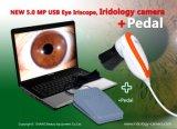 新款500万像素USB电脑型自动分析虹膜仪, 虹膜检测仪+脚踏板
