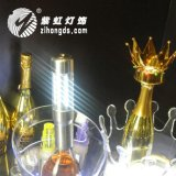 新款香檳煙花皇冠帽LED充電閃光冷煙花紅酒裝飾帽子