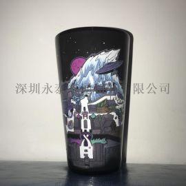 16OZ喷漆陶瓷杯  LOGO定制 外贸原单