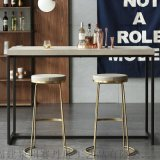 创意酒吧椅铁艺金色吧凳家用吧台椅高脚椅子
