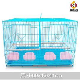 鸟笼 虎皮鹦鹉十姐妹繁殖笼方厂家批发四食盒带格网群鸟笼