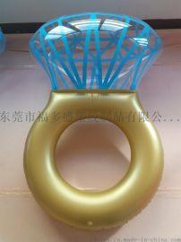 福多盛新款环保PVC充气大钻石戒指泳圈浮排 可来图来样订制加工