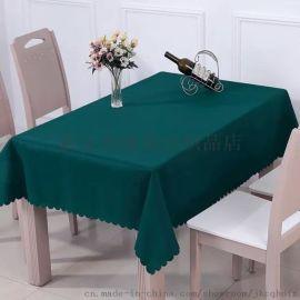 鸿鼎纺织供应酒店家用桌布纯色会议餐厅长方形台裙聚会活动用台布定制