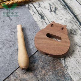卡通动物响板玩具定制 木质动物响板 儿童乐器玩具