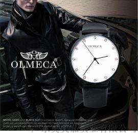 熱銷情侶手表簡約表盤不鏽鋼石英錶手表廠家代理