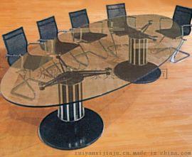 辦公家具定制鋼化玻璃現代會議桌 小型開會桌廠家熱銷
