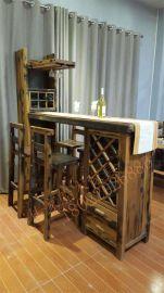 船木家具就吧台,休闲家用就吧台,情侣情调红酒吧台