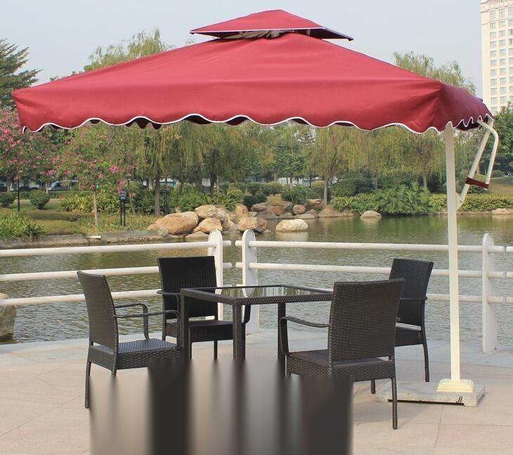 1图 户外家具编藤桌椅 室内外藤桌椅四件套 简易花园家具