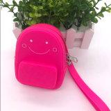 粉红色硅胶包包 迷你零钱包 塑胶手袋包