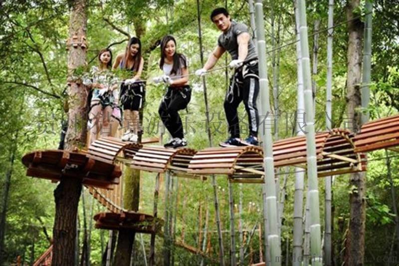 贵州穿越丛林拓展设备价格项目定制厂家供应商探险乐园哪家好图片