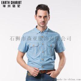 台北服装批发 外贸男装 男士短袖商务男士衬衫 出口衬衫