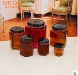 六角蜂蜜瓶,喜密瓶,果酱酱菜瓶