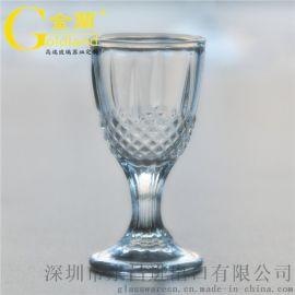 厂家定制烈酒杯高脚白酒杯**杯酒盅加印LOGO