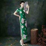 萧萍萍旗袍大码版型女装品牌折扣女装尾货库存一手货源