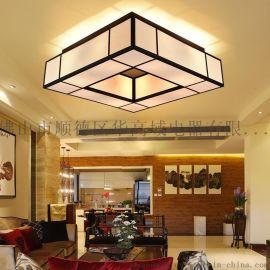現代新中式餐廳吊燈簡約大氣鐵藝創意客廳中式燈具