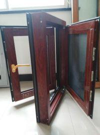 贝科利尔128系列铝包木外开内带金钢网平开窗
