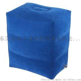 厂家福多盛直销各类PVC充气脚垫 植绒旅行脚垫 充气凳