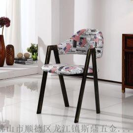 斯鼎A椅鐵藝復古餐椅美式酒店家用餐廳椅子