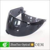 生产高质量已强化加工机动摩托车安全头盔面镜摩托车头盔挡风镜,耐防水防风抗冲击