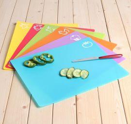 PP菜板,塑料菜板,4色分类塑料菜板,380x305x0.5mm