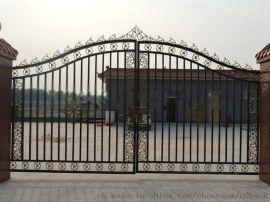 武汉厂家定做铁艺庭院大门别墅大门花园门锌钢院墙门